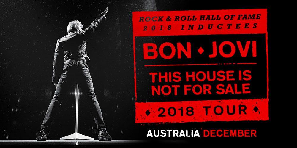 Bon Jovi: This House Is Not For Sale 2018 Tour