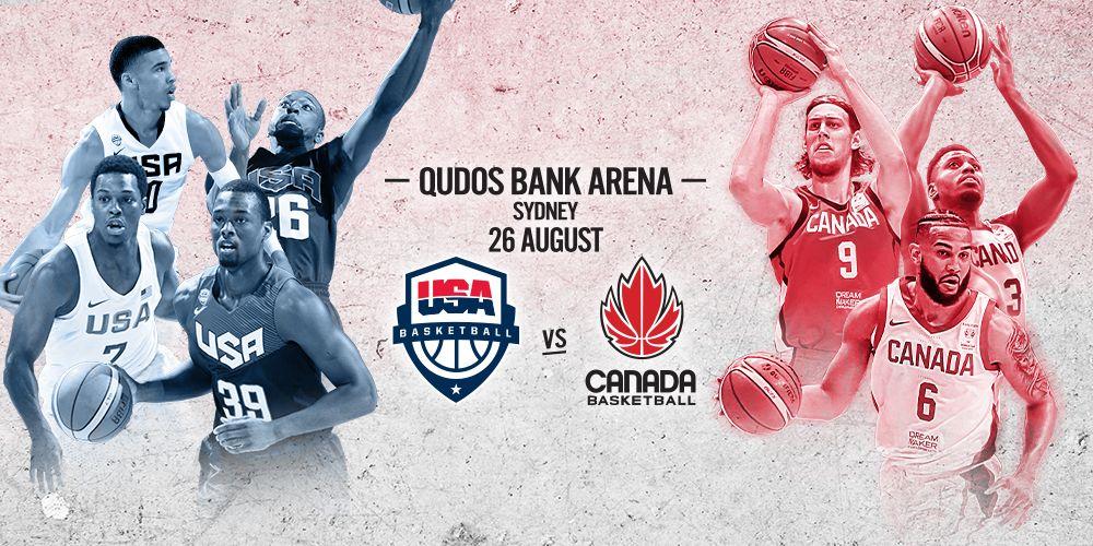 USA vs Canada Basketball 2019