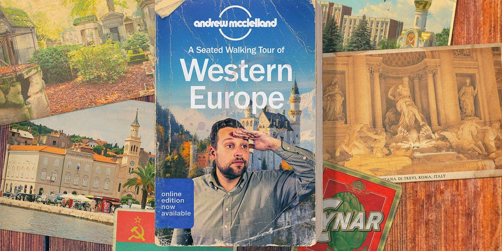Andrew McClelland: A Seated Walking Tour of Western Europe