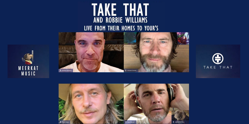 Take That & Robbie Williams concert from their homes